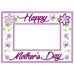Mothers Day Frame embroidery design