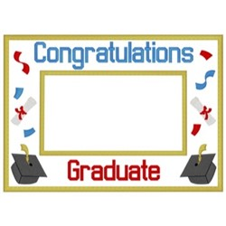 Graduation Frame embroidery design