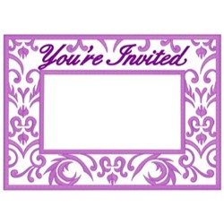 Youre Invited Frame embroidery design