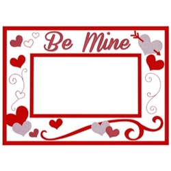 Valentines Frame embroidery design