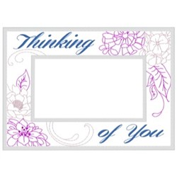 Thinking Of You Frame embroidery design