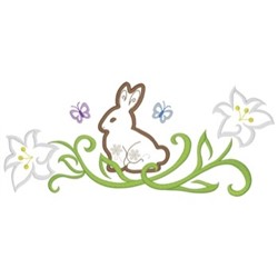Easter Border embroidery design
