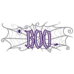 Boo Spiderweb embroidery design