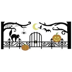 Cemetery Gates embroidery design