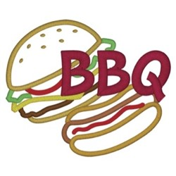 BBQ Foods embroidery design