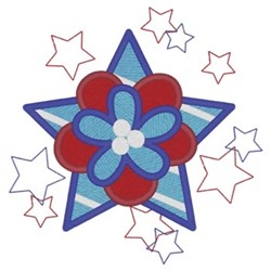 Patriotic Flower embroidery design