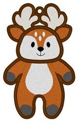 Reindeer Bookmark embroidery design