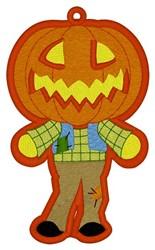 Jack-o-lantern Bookmark embroidery design