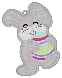 Easter Bunny Bookmark embroidery design