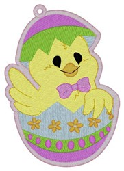 Chick In Egg Bookmark embroidery design