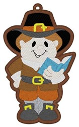 Pilgrim Bookmark embroidery design