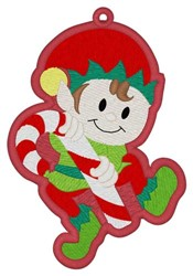 Elf Bookmark embroidery design