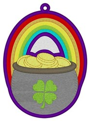 Pot-o-Gold Bookmark embroidery design