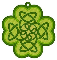 Celtic Knot Shamrock Bookmark embroidery design