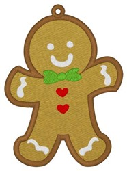 Gingerbread Man Bookmark embroidery design