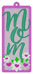 Mom Bookmark embroidery design