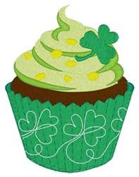 Shamrock Cupcake embroidery design