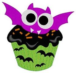 Bat Cupcake embroidery design