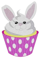 Bunny Cupcake embroidery design