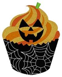 Jack-o-lantern Cupcake embroidery design