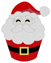 Santa Cupcake embroidery design