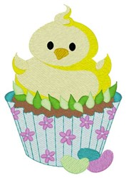 Chick Cupcake embroidery design