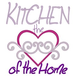 Kitchen Heart Of Home embroidery design