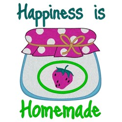 Happiness Is Homemade embroidery design