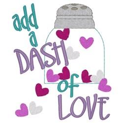Dash Of Love embroidery design