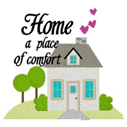 Home Place Of Comfort embroidery design