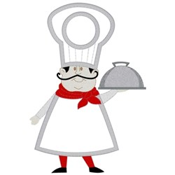 Chef Towel Topper embroidery design