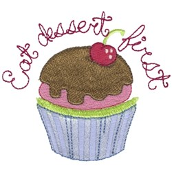 Eat Dessert First - Cupcake embroidery design