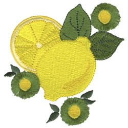 Lemons embroidery design
