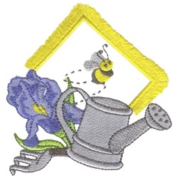 Gardening W/ Fringe embroidery design