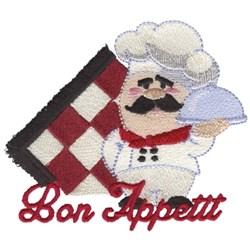 Bon Appetit Chef embroidery design