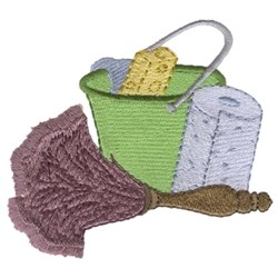 Cleaning Supplies embroidery design