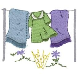 Fringe Laundry embroidery design