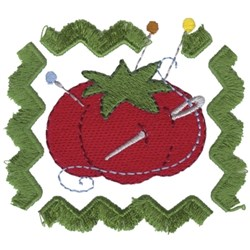 Tomato Pin Cushion embroidery design