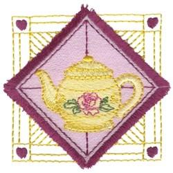 Teapot Fringe Square embroidery design