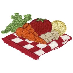Assorted Vegetables embroidery design