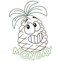 Pineapple Monday embroidery design