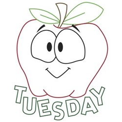 Apple Tuesday embroidery design