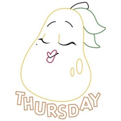 Pear Thursday embroidery design