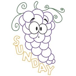 Grapes Sunday embroidery design