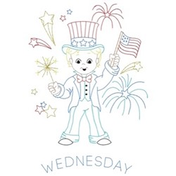 Patriotic Wednesday embroidery design