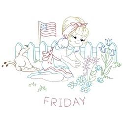 Patriotic Friday embroidery design