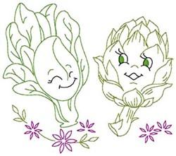 Spinach & Artichoke embroidery design
