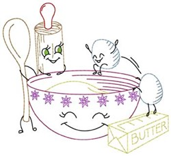Eggcellant Baking embroidery design