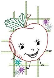 Happy Apple embroidery design