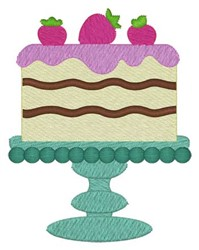 Cake On Stand embroidery design